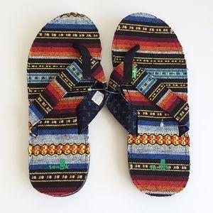 Men's Sanuk Flip Flop Sandals Like New